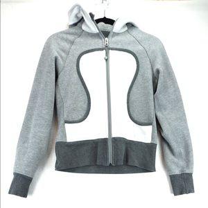 Lululemon size 6 grey scuba hoodie